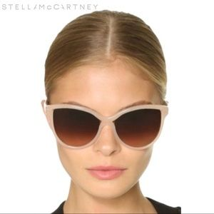 Unworn Stella McCartney Beige Cat Eye Sunglasses